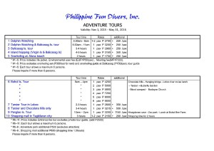 Adventure trips Philippine Fun Divers Alona Beach Panglao Bohol Philippines