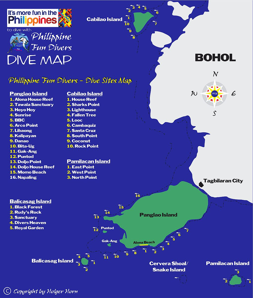 Panglao Island Philippines  city pictures gallery : ... MAP of Philippine Fun Divers, Alona Beach, Panglao, Bohol, Philippines