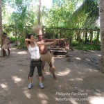 Philippine Fun Divers Alona Beach Panglao Bohol Adventure trip Loboc River Ate tribe Rena Sugiyama bow and arrow shooting