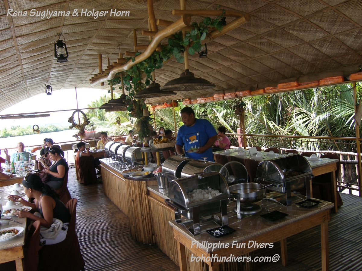 Philippine Fun Divers Alona Beach Panglao Bohol Adventure trip Loboc River floating restaurant 1