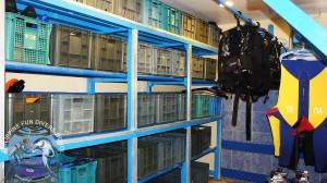 Philippine Fun Divers Alona Beach Panglao Bohol Equipment Room