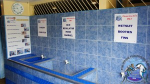 Philippine Fun Divers Alona Beach Panglao Bohol Rinsing & Pre-drying Area 2