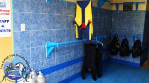 Philippine Fun Divers Alona Beach Panglao Bohol Rinsing & Pre-drying Area 3