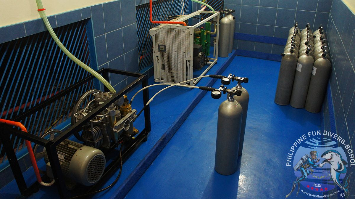 Philippine Fun Divers Alona Beach Panglao compressor room 1