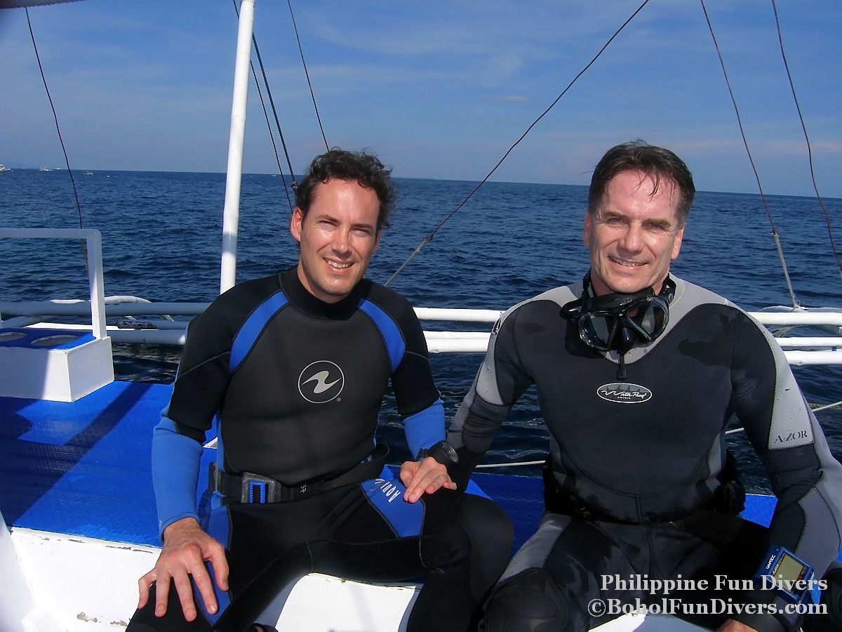 Philippine Fun Divers - Divers Alona Beach Panglao Bohol Holger Horn and Ambassador Rod Smith 1