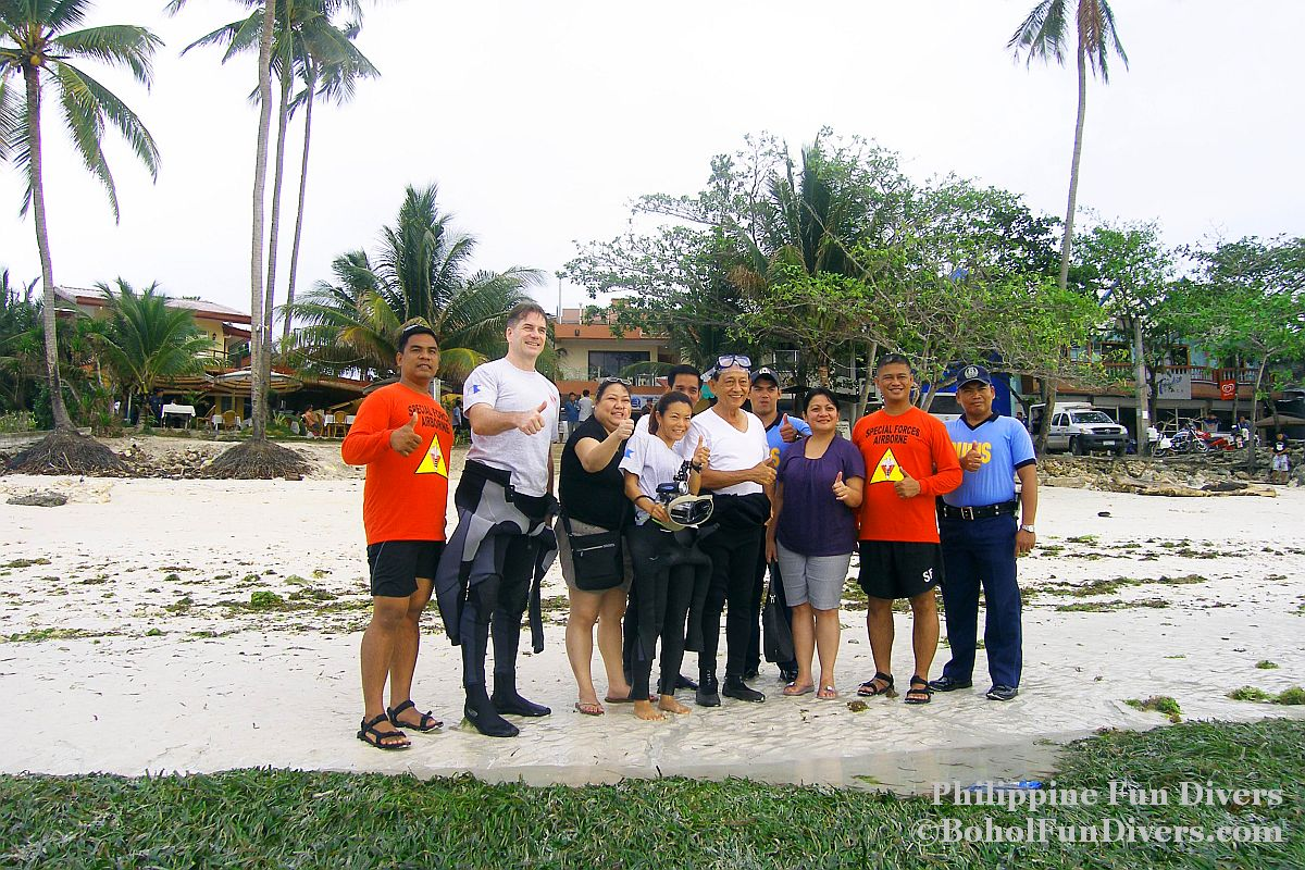 Philippine Fun Divers - Divers Alona Beach Panglao Bohol President Ramos 3